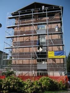 Najem gradbenih odrov - fasada blok