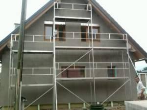 Najem gradbenih odrov - hiša Z