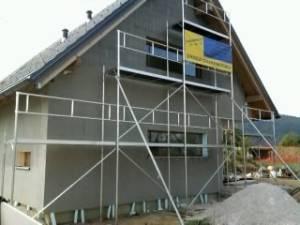 Najem gradbenih odrov - hiša S