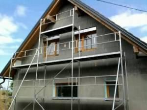 Najem gradbenih odrov - hiša V